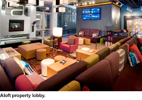 Aloft property lobby